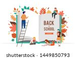 back to school scene with big... | Shutterstock .eps vector #1449850793