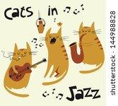Постер, плакат: Cats in jazz vector