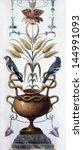 fragment of painting. birds ... | Shutterstock . vector #144991093