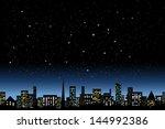 night city light | Shutterstock .eps vector #144992386