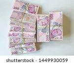 turkish lira  turkish money  ...   Shutterstock . vector #1449930059
