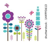 greeting card template with... | Shutterstock . vector #144993613