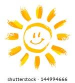 smiling sun | Shutterstock .eps vector #144994666