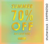 summer discount 70  off.blurred ... | Shutterstock .eps vector #1449960560