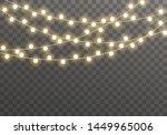 christmas lights isolated on... | Shutterstock .eps vector #1449965006