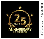 twenty five years anniversary... | Shutterstock .eps vector #1449982850