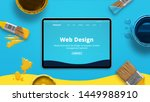 Web design concept with modern...