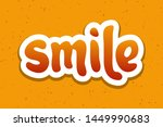 vector illustration for smile... | Shutterstock .eps vector #1449990683