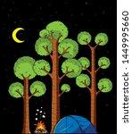 cartoon illustration of forest...   Shutterstock .eps vector #1449995660