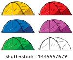 illustration of a cartoon tent...   Shutterstock .eps vector #1449997679
