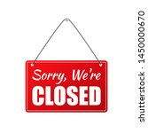 closed store sign. stock... | Shutterstock . vector #1450000670