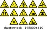 business safety signs yellow... | Shutterstock . vector #1450006610