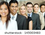 group of business executives... | Shutterstock . vector #145003483