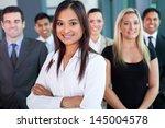 beautiful young indian... | Shutterstock . vector #145004578