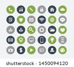 phone apps icons set smart... | Shutterstock .eps vector #1450094120
