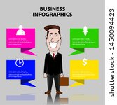 business infographic with a... | Shutterstock .eps vector #1450094423
