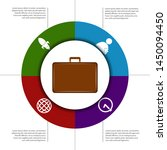 isolated business infographic... | Shutterstock .eps vector #1450094450