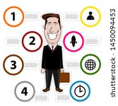 business infographic with a... | Shutterstock .eps vector #1450094453