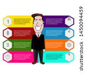 business infographic with a... | Shutterstock .eps vector #1450094459