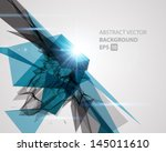 abstract 3d geometric lines... | Shutterstock .eps vector #145011610