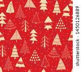 christmas seamless pattern for...   Shutterstock .eps vector #1450126889