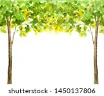 Summer Green Tree Watercolor...