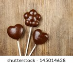 Chocolate Cake Pops In Heart...