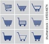 icons shopping cart. vector set.... | Shutterstock .eps vector #145014874