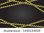 caution and danger tapes.... | Shutterstock .eps vector #1450154039