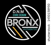 Typography Bronx For Print T...