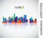 hanoi skyline silhouette in...   Shutterstock .eps vector #1450177310
