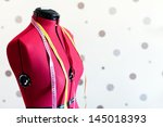 Tailors Red Textile Dummy With...