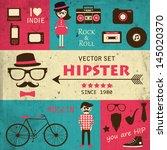 hipster infographics. vector... | Shutterstock .eps vector #145020370