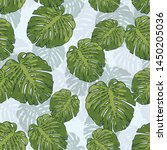 green seamless pattern with... | Shutterstock .eps vector #1450205036