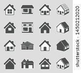 house icons. sticker design.... | Shutterstock .eps vector #1450212020