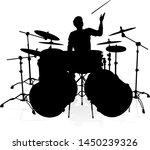 a drummer musician drumming... | Shutterstock .eps vector #1450239326