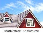 Brown Tile Roof In Garden...