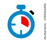stop watch icon. logo element... | Shutterstock .eps vector #1450262690