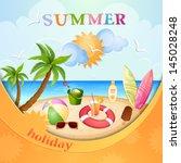 summer holiday illustration | Shutterstock .eps vector #145028248