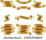 gold ribbon set inisolated... | Shutterstock .eps vector #1450296839