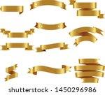 gold ribbon set inisolated... | Shutterstock .eps vector #1450296986