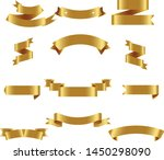gold ribbon set inisolated... | Shutterstock .eps vector #1450298090