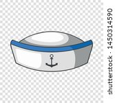 sailor hat icon. cartoon... | Shutterstock .eps vector #1450314590