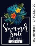 summer sale vertical banner. up ... | Shutterstock .eps vector #1450331420