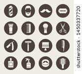 barber shop vector icon set | Shutterstock .eps vector #1450337720