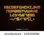 alphabet colour style  vector...   Shutterstock .eps vector #145034086
