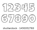 black font numbers from 1 to 0  ... | Shutterstock .eps vector #1450352783