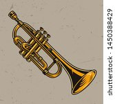 Colorful Brass Trumpet Concept...