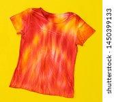 t shirt decorated in tie dye... | Shutterstock . vector #1450399133