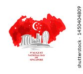 august 9  singapore national... | Shutterstock .eps vector #1450404809